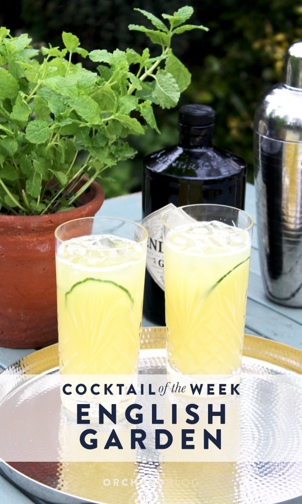 a quintessentially English cocktail to enjoy in the garden.