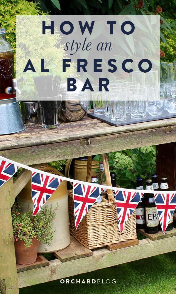 How to style an al fresco bar