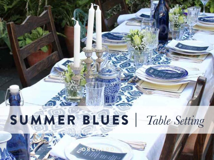 Summer Blue Table Theme