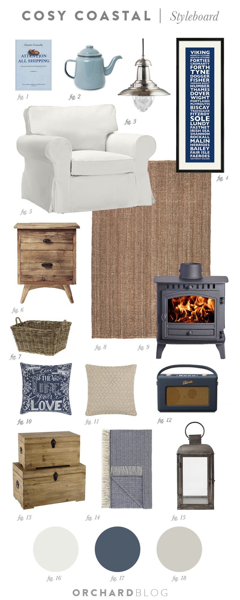 cosy coastal cottage styleboard