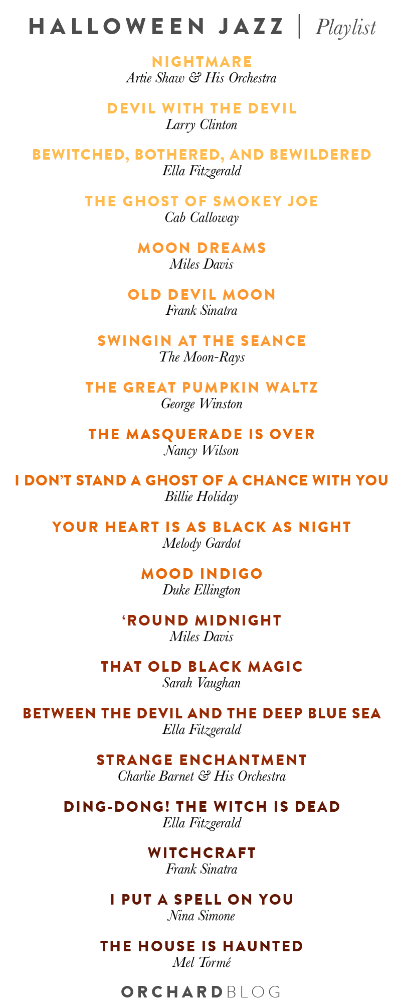 Halloween Jazz Playlist