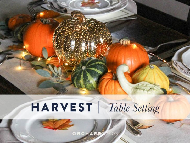 Autumn harvest table setting