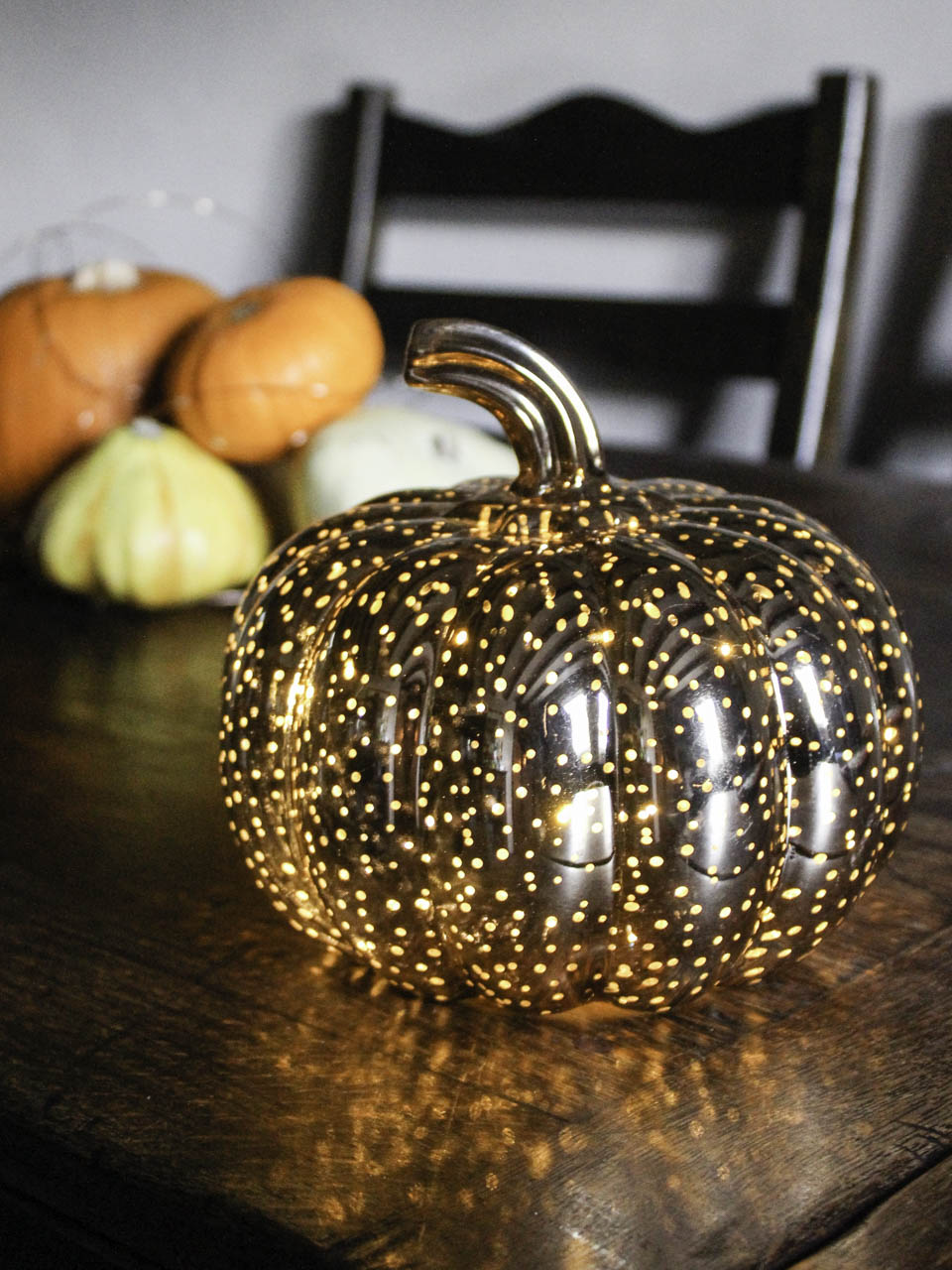 Glass Pumpkin from Lights4fun