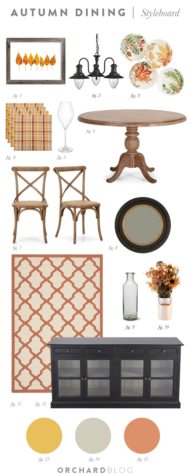Autumn Dining Room Scheme