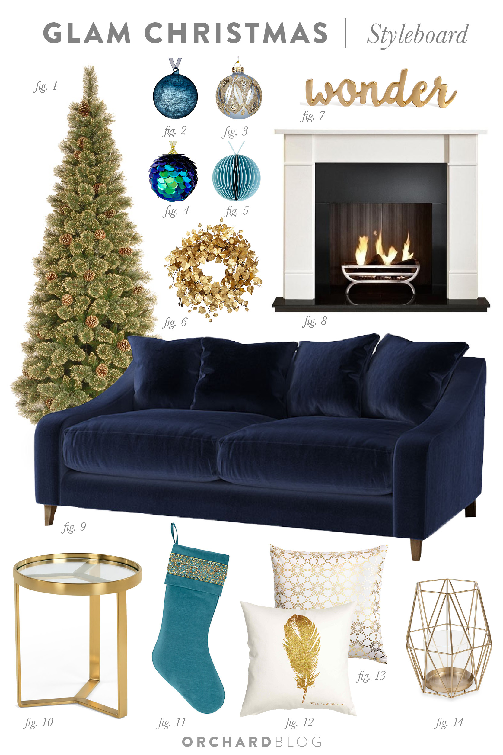 Glam Christmas Living Room