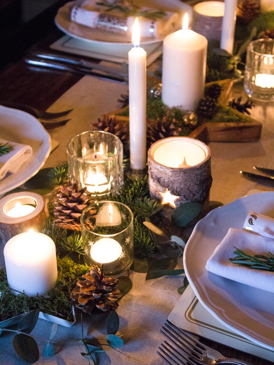 Scandi Inspired Winter Woodland Table