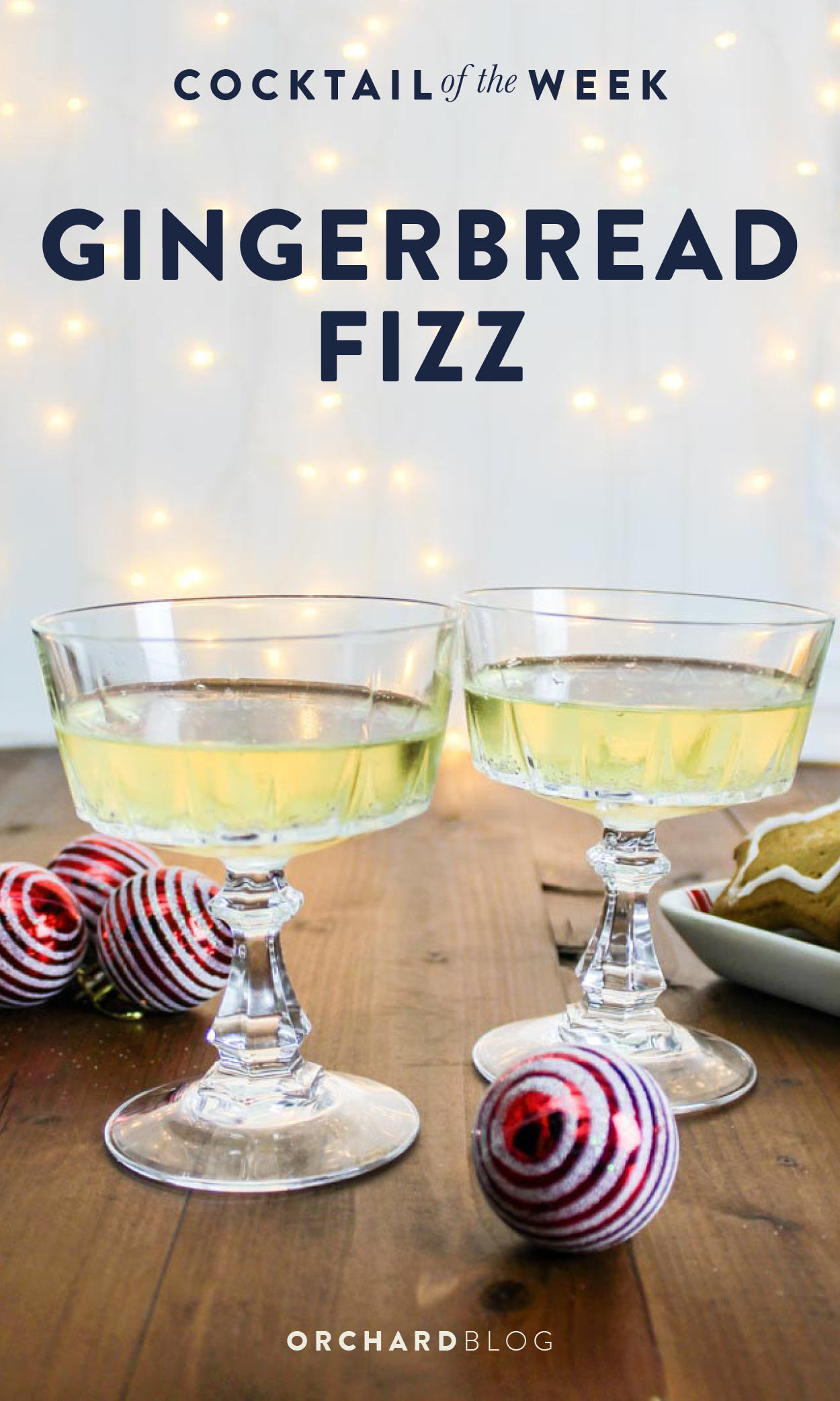 Gingerbread Fizz Cocktail