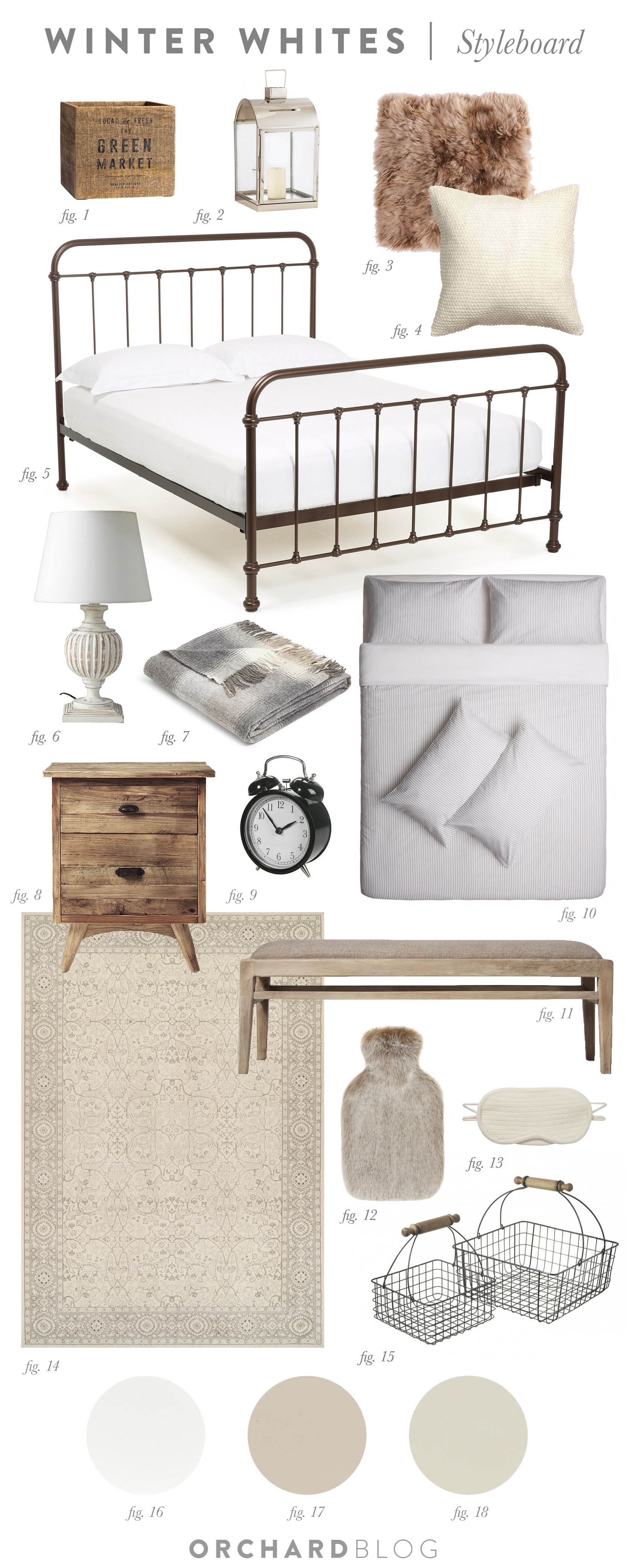 Winter Whites Bedroom Scheme