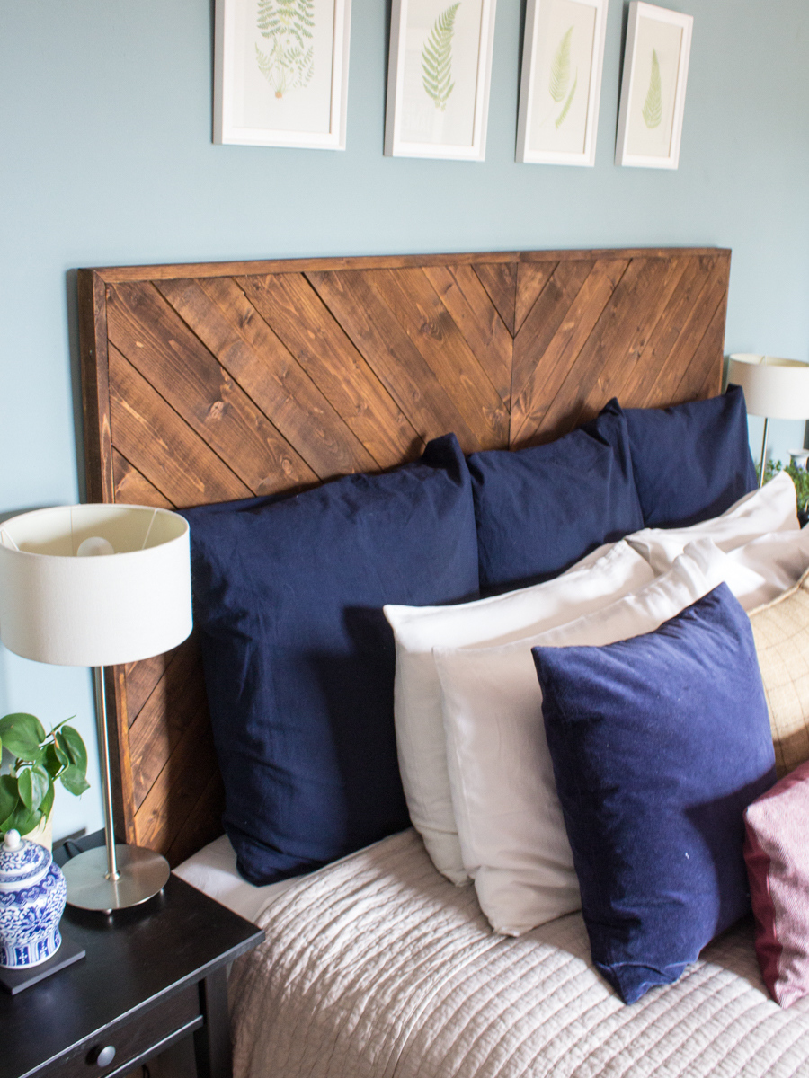 DIY West Elm Style Chevron Headboard